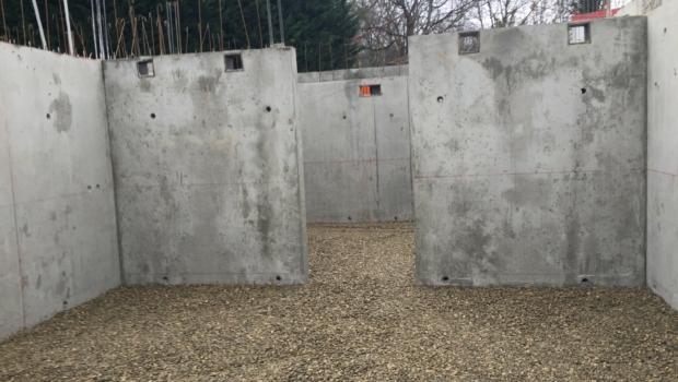 Fondations du Woodpark achevées